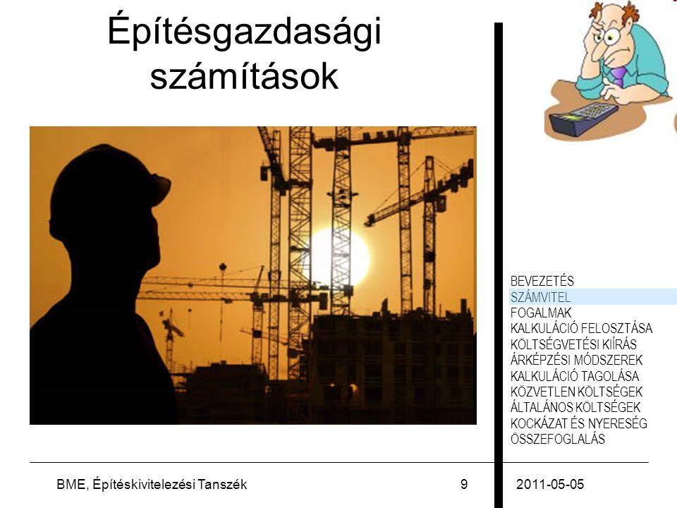 Építésgazdasági számítások