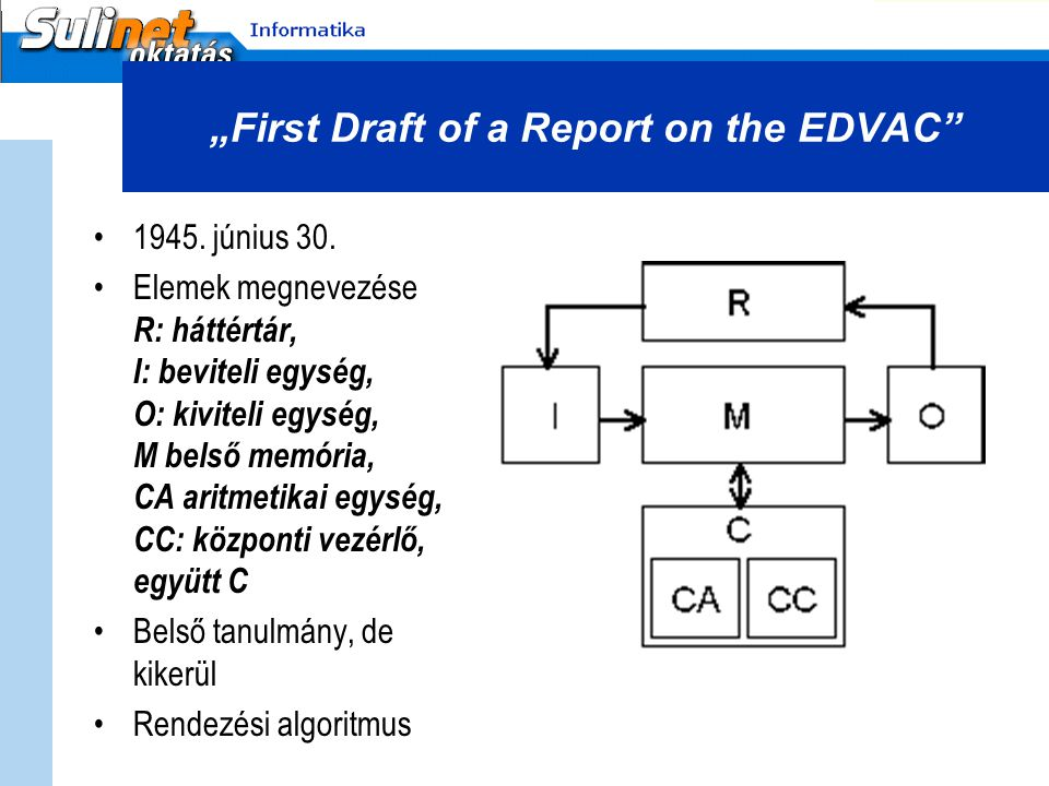 """First Draft of a Report on the EDVAC"