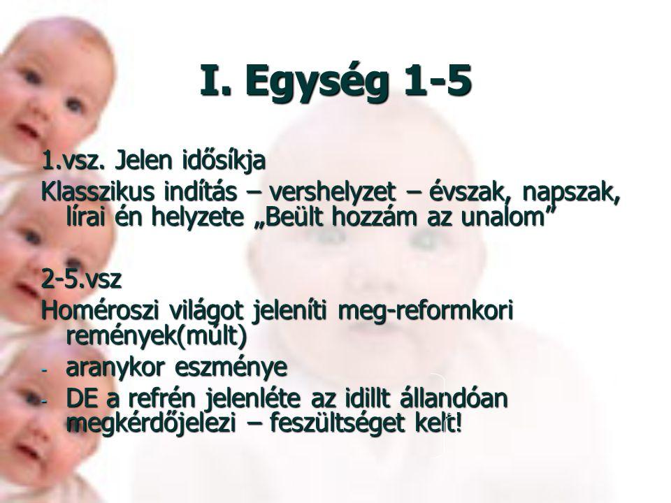 I. Egység 1-5 1.vsz. Jelen idősíkja