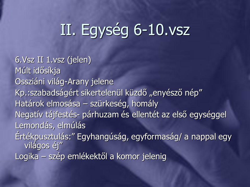 II. Egység 6-10.vsz 6.Vsz II 1.vsz (jelen) Múlt idősíkja