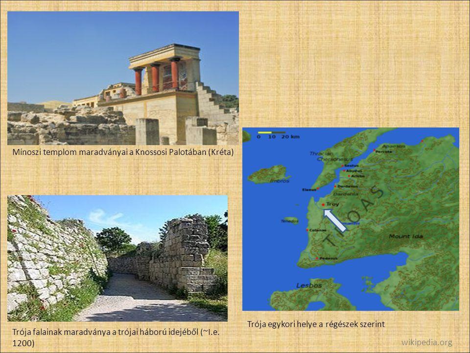 Mínoszi templom maradványai a Knossosi Palotában (Kréta)