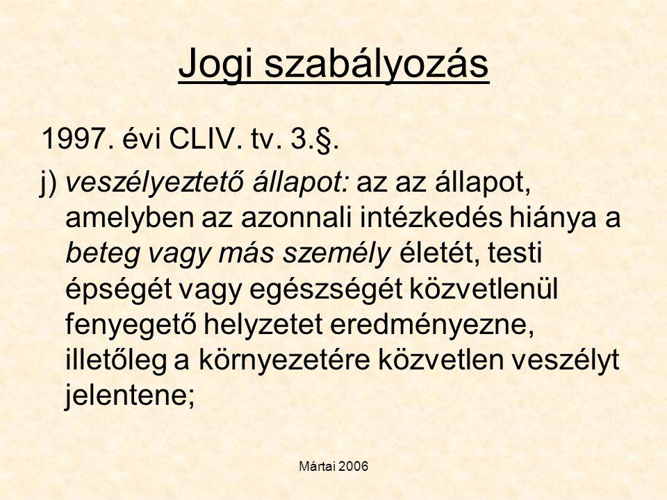 Jogi szabályozás 1997. évi CLIV. tv. 3.§.