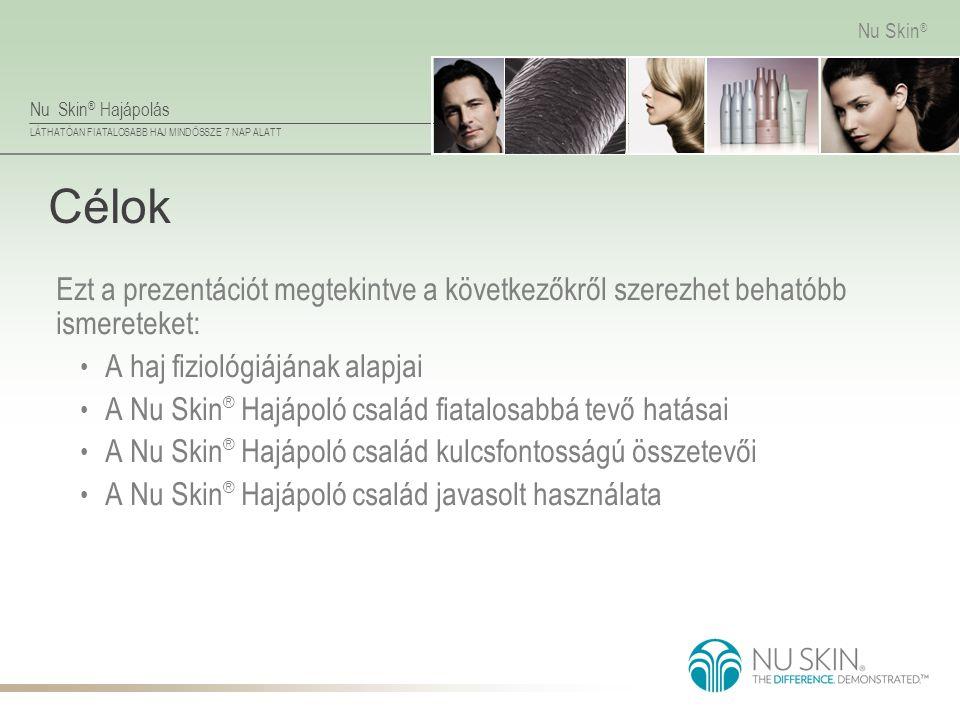 Célok Ezt a prezentációt megtekintve a következőkről szerezhet behatóbb ismereteket: A haj fiziológiájának alapjai.