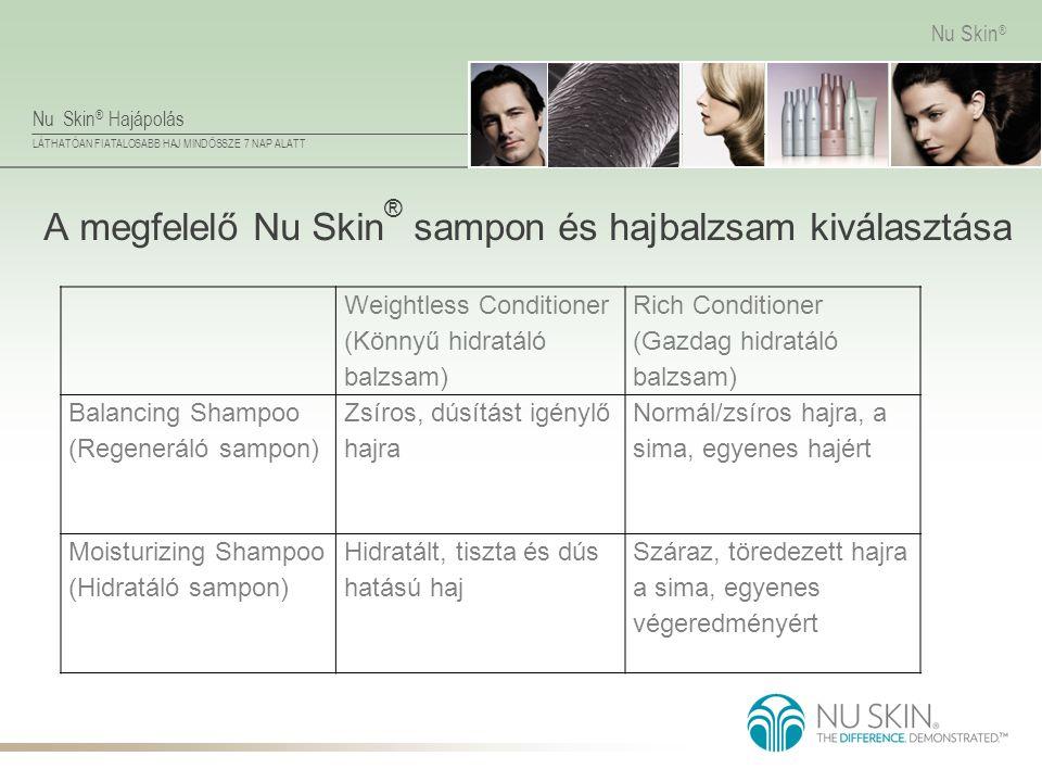 A megfelelő Nu Skin® sampon és hajbalzsam kiválasztása
