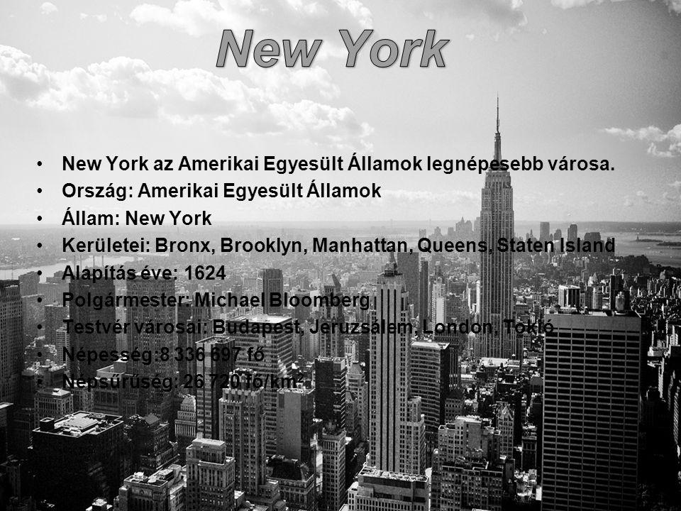 New York New York az Amerikai Egyesült Államok legnépesebb városa.