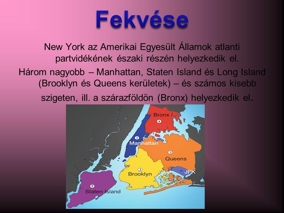 Fekvése New York az Amerikai Egyesült Államok atlanti partvidékének északi részén helyezkedik el.