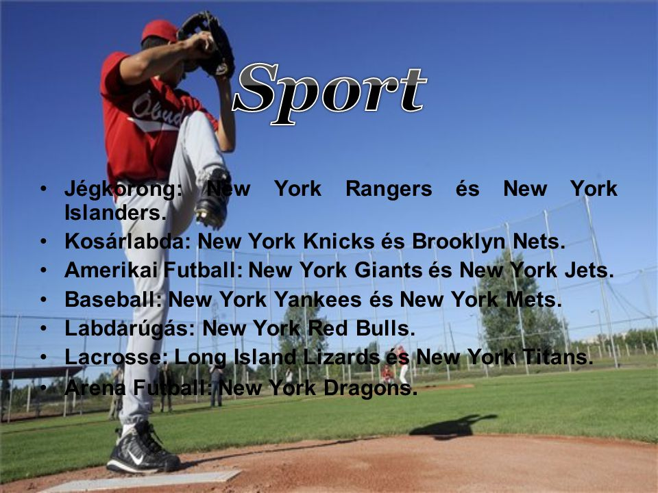 Sport Jégkorong: New York Rangers és New York Islanders.