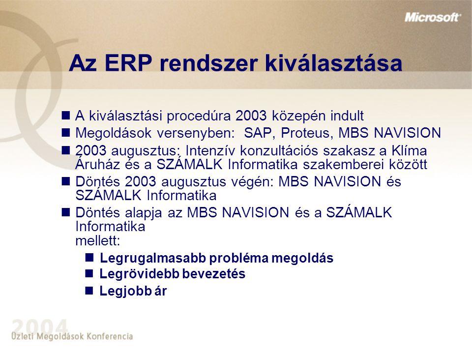 Az ERP rendszer kiválasztása