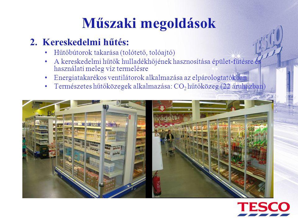 Műszaki megoldások 2. Kereskedelmi hűtés: