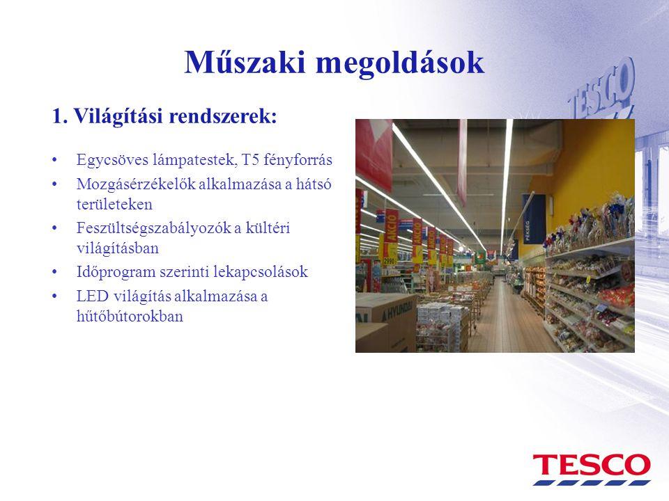 Műszaki megoldások 1. Világítási rendszerek: