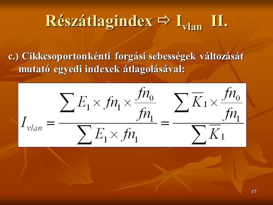 Részátlagindex  Ivlan II.