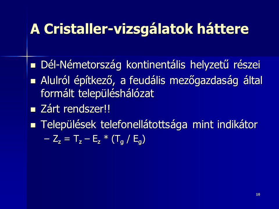 A Cristaller-vizsgálatok háttere
