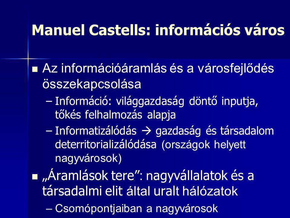 Manuel Castells: információs város