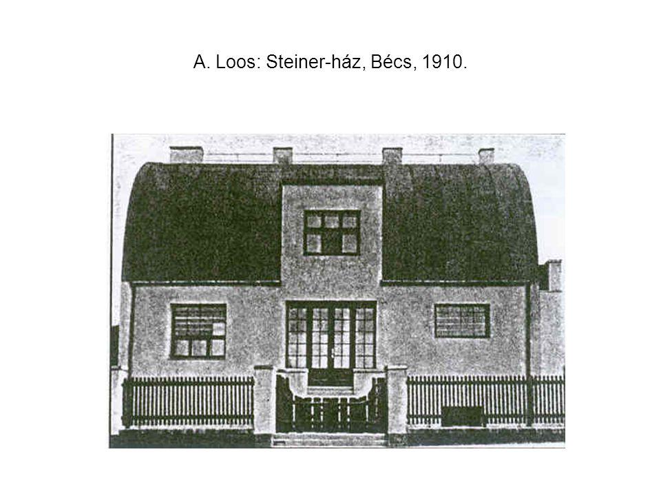 A. Loos: Steiner-ház, Bécs, 1910.