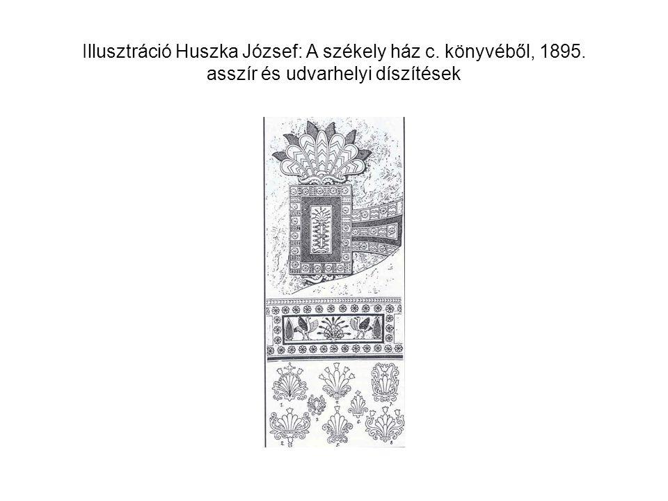 Illusztráció Huszka József: A székely ház c. könyvéből, 1895