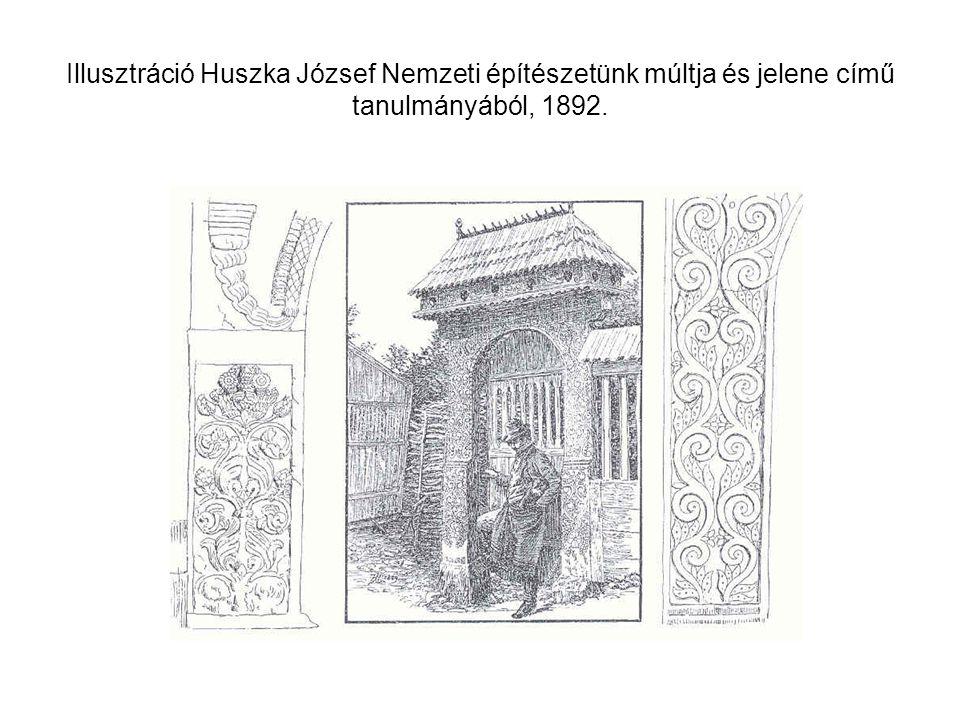 Illusztráció Huszka József Nemzeti építészetünk múltja és jelene című tanulmányából, 1892.