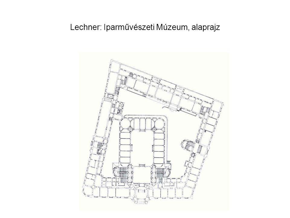 Lechner: Iparművészeti Múzeum, alaprajz