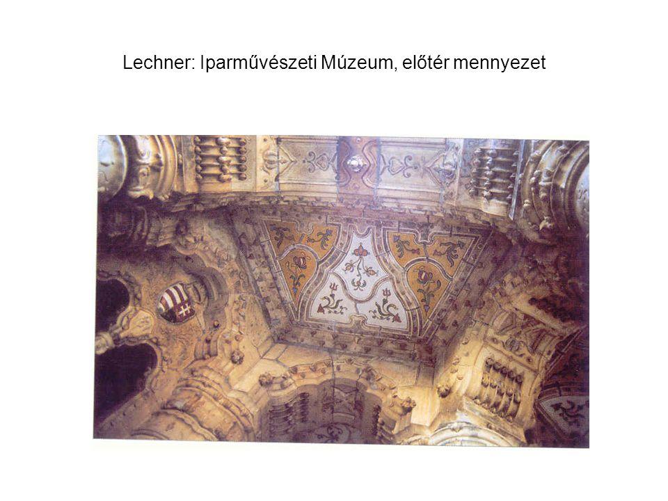 Lechner: Iparművészeti Múzeum, előtér mennyezet
