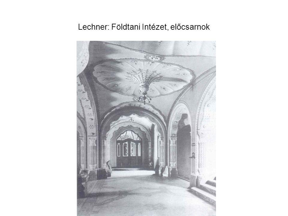 Lechner: Földtani Intézet, előcsarnok