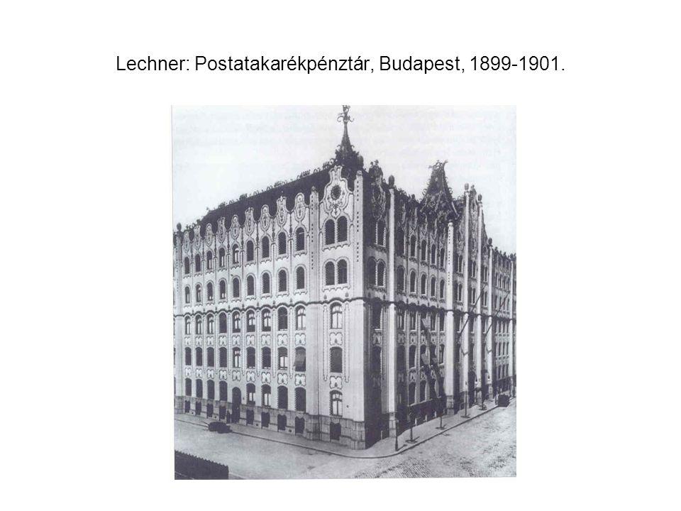 Lechner: Postatakarékpénztár, Budapest, 1899-1901.