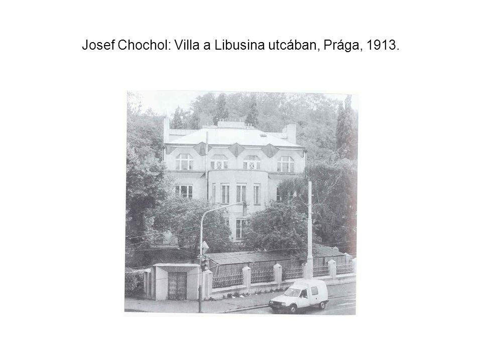 Josef Chochol: Villa a Libusina utcában, Prága, 1913.