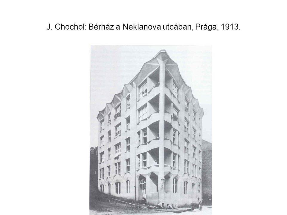 J. Chochol: Bérház a Neklanova utcában, Prága, 1913.
