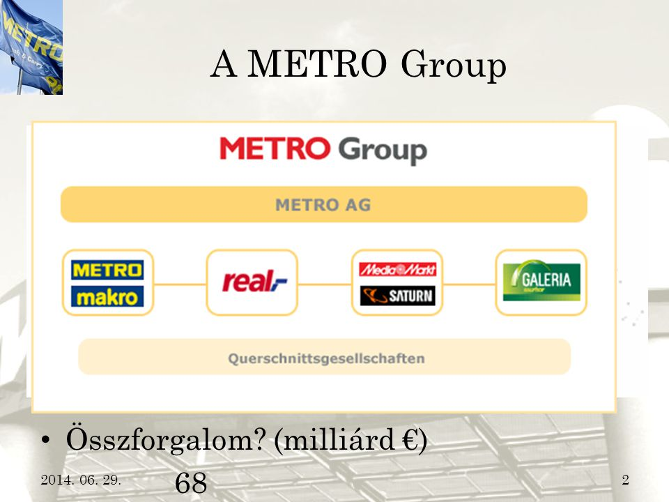 A METRO Group Anyacég  METRO Group Hány országban van jelen 32