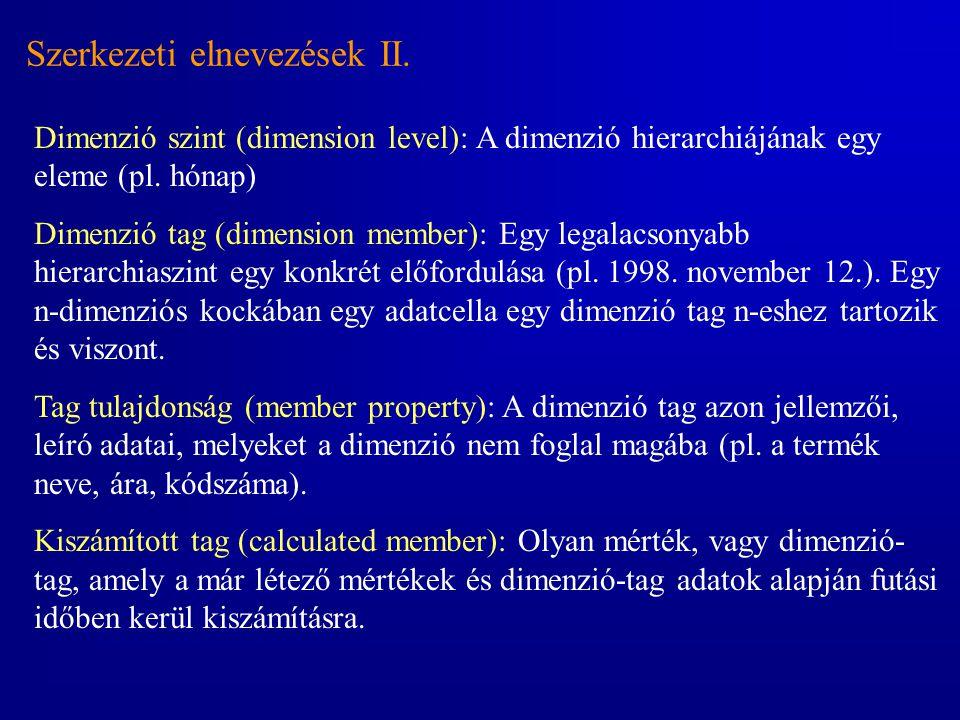 Szerkezeti elnevezések II.