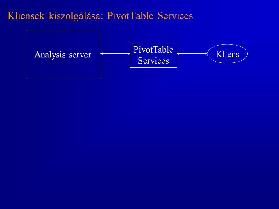 Kliensek kiszolgálása: PivotTable Services