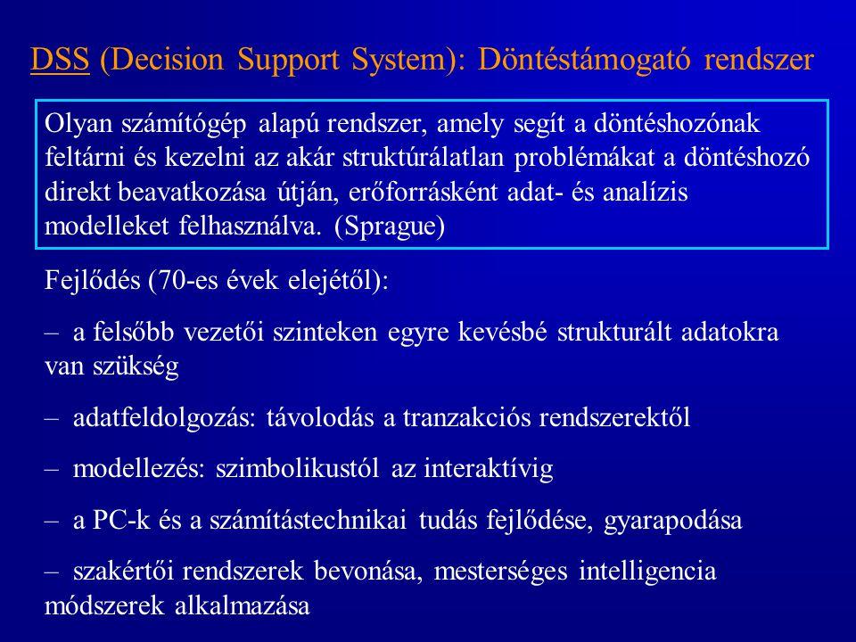 DSS (Decision Support System): Döntéstámogató rendszer