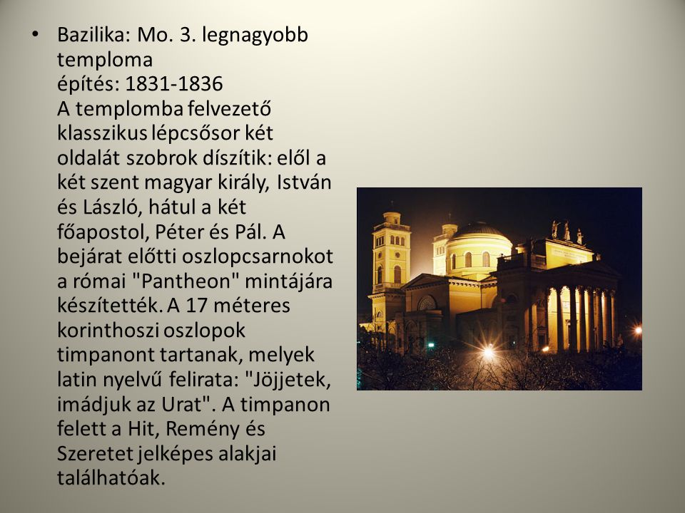 Bazilika: Mo. 3.