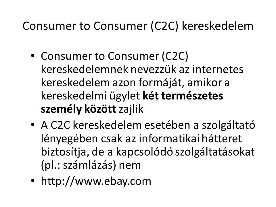 Consumer to Consumer (C2C) kereskedelem