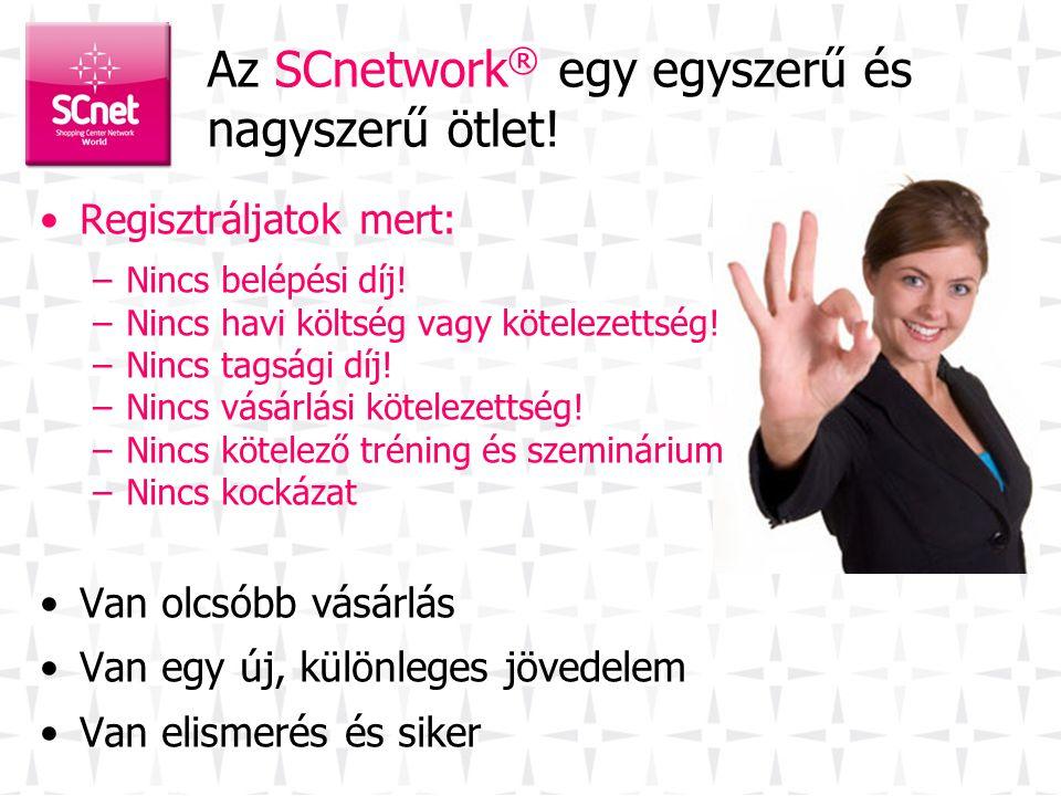 Az SCnetwork® egy egyszerű és nagyszerű ötlet!