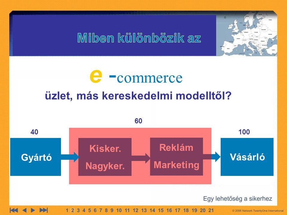 e -commerce Miben különbözik az üzlet, más kereskedelmi modelltől