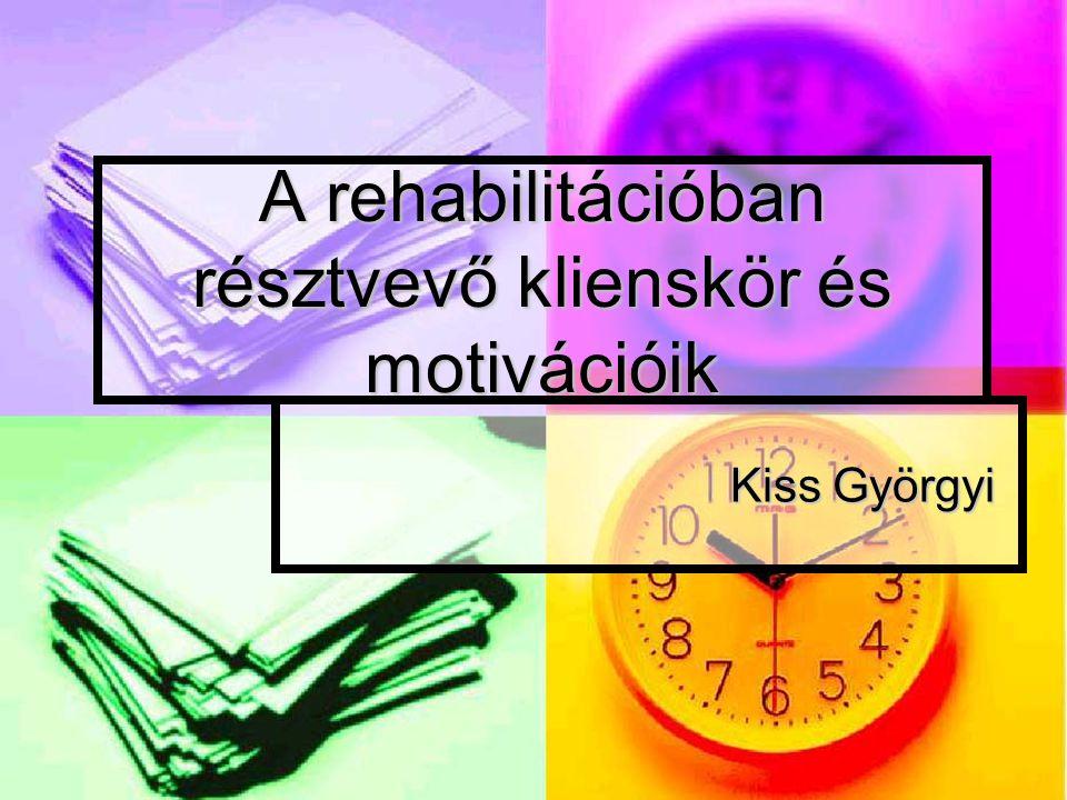 A rehabilitációban résztvevő klienskör és motivációik