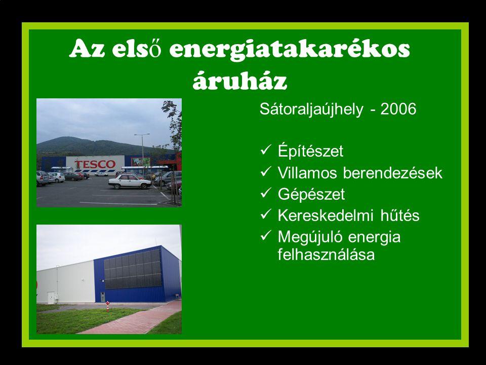 Az első energiatakarékos áruház