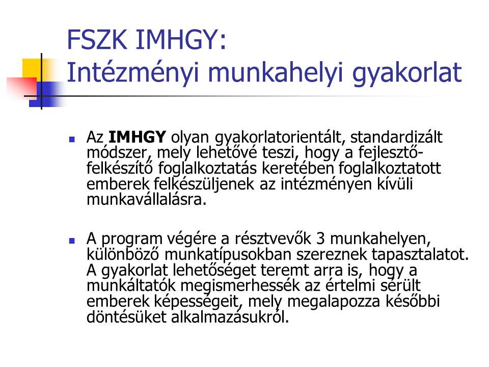 FSZK IMHGY: Intézményi munkahelyi gyakorlat