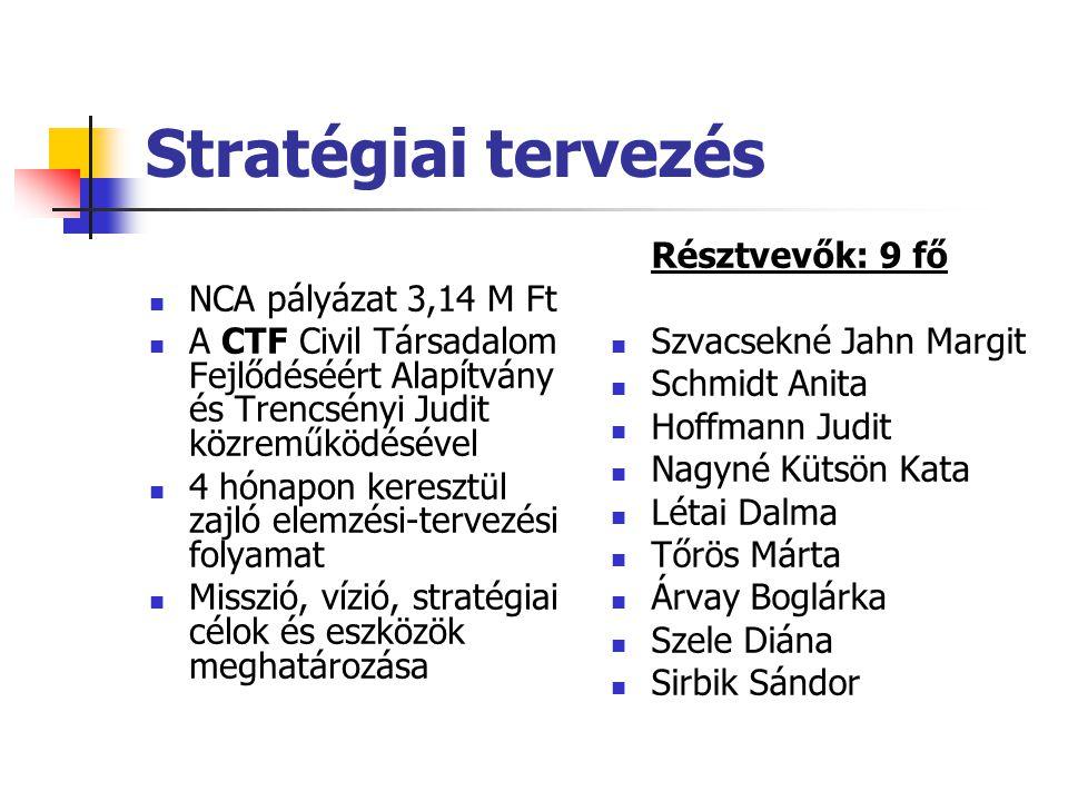 Stratégiai tervezés NCA pályázat 3,14 M Ft