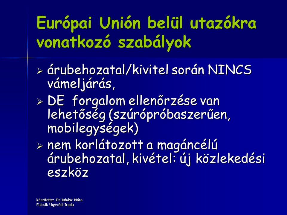Európai Unión belül utazókra vonatkozó szabályok
