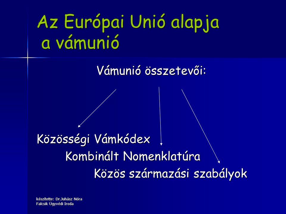 Az Európai Unió alapja a vámunió