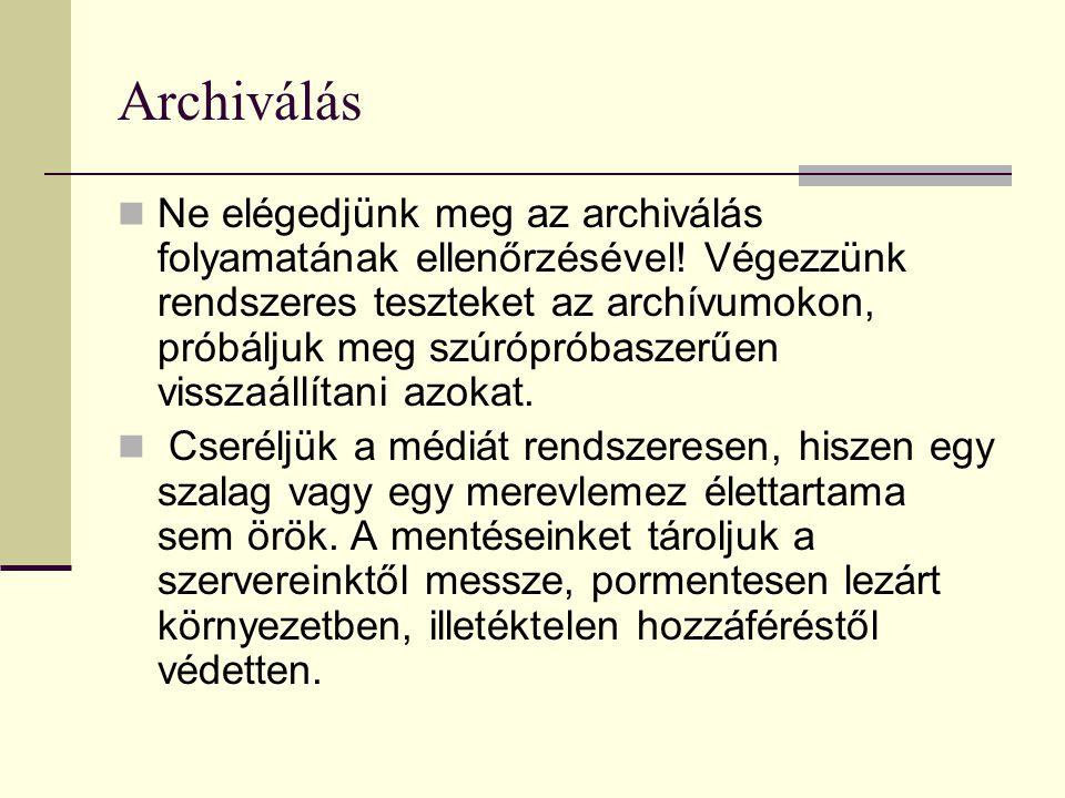 Archiválás