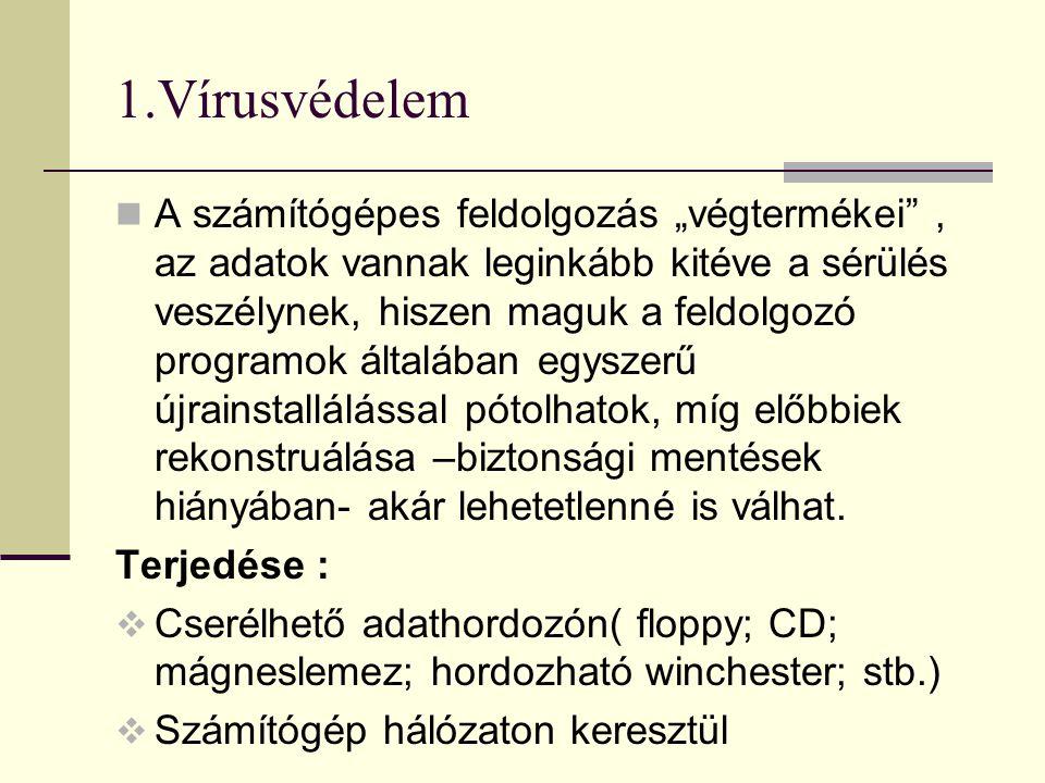 1.Vírusvédelem