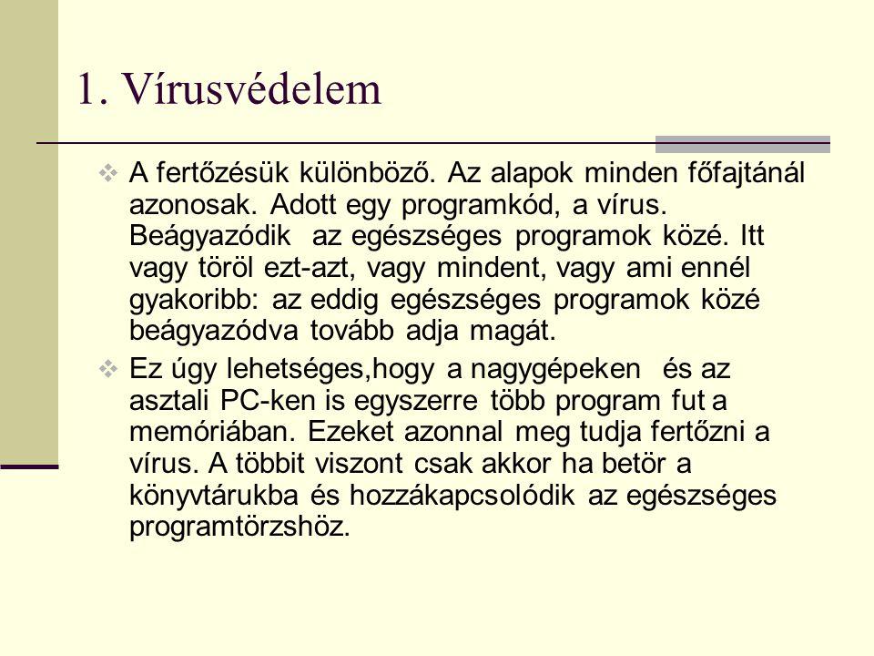 1. Vírusvédelem