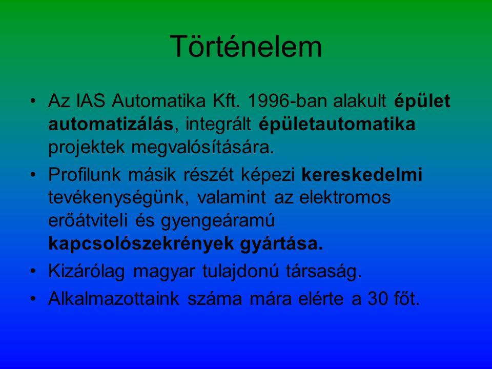 Történelem Az IAS Automatika Kft. 1996-ban alakult épület automatizálás, integrált épületautomatika projektek megvalósítására.