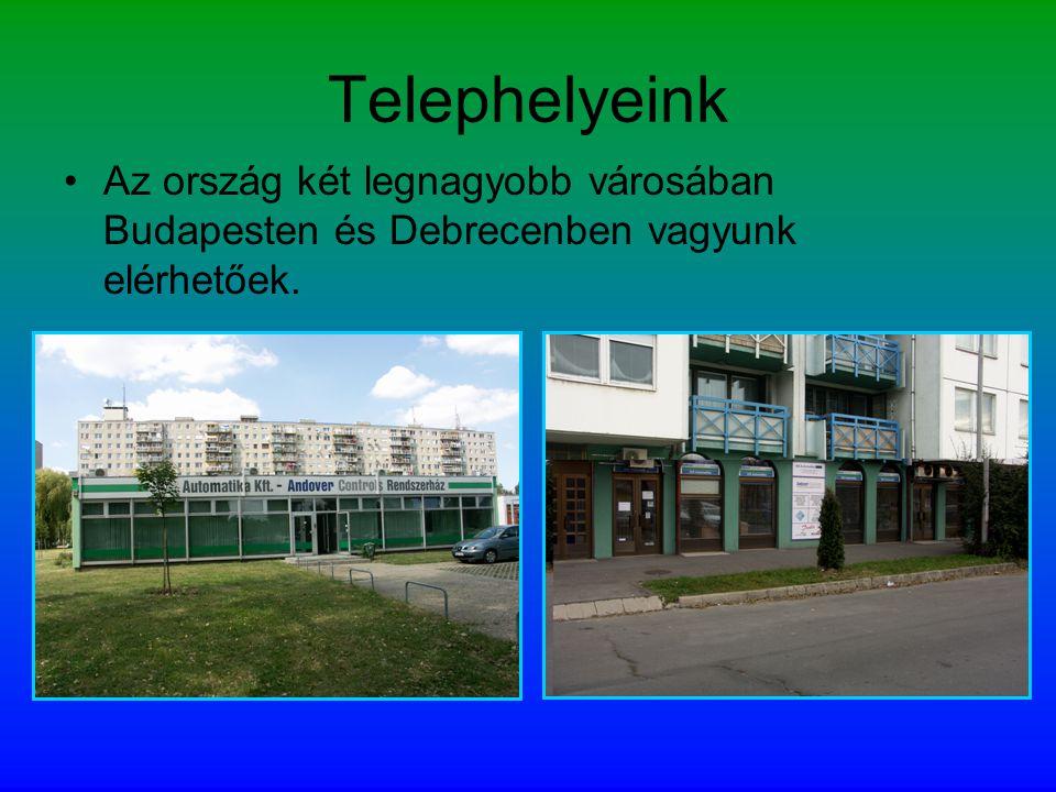 Telephelyeink Az ország két legnagyobb városában Budapesten és Debrecenben vagyunk elérhetőek.