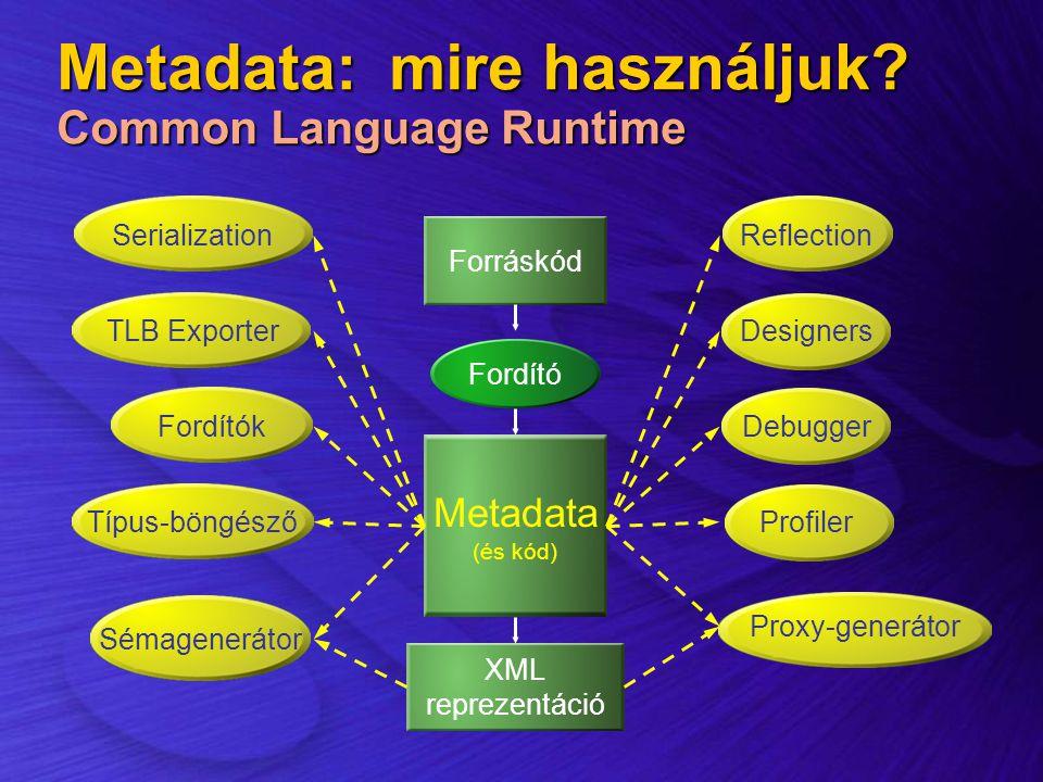 Metadata: mire használjuk Common Language Runtime