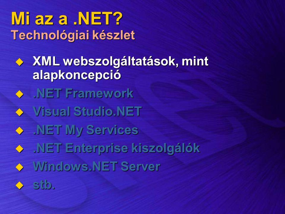 Mi az a .NET Technológiai készlet