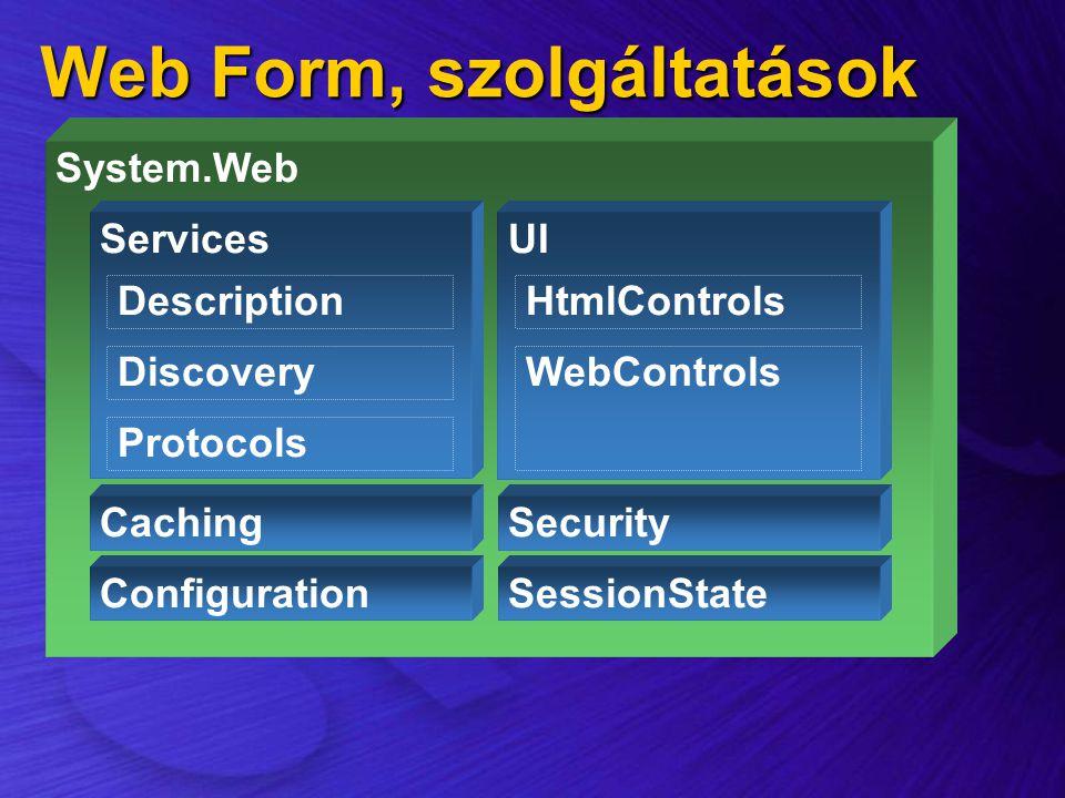 Web Form, szolgáltatások