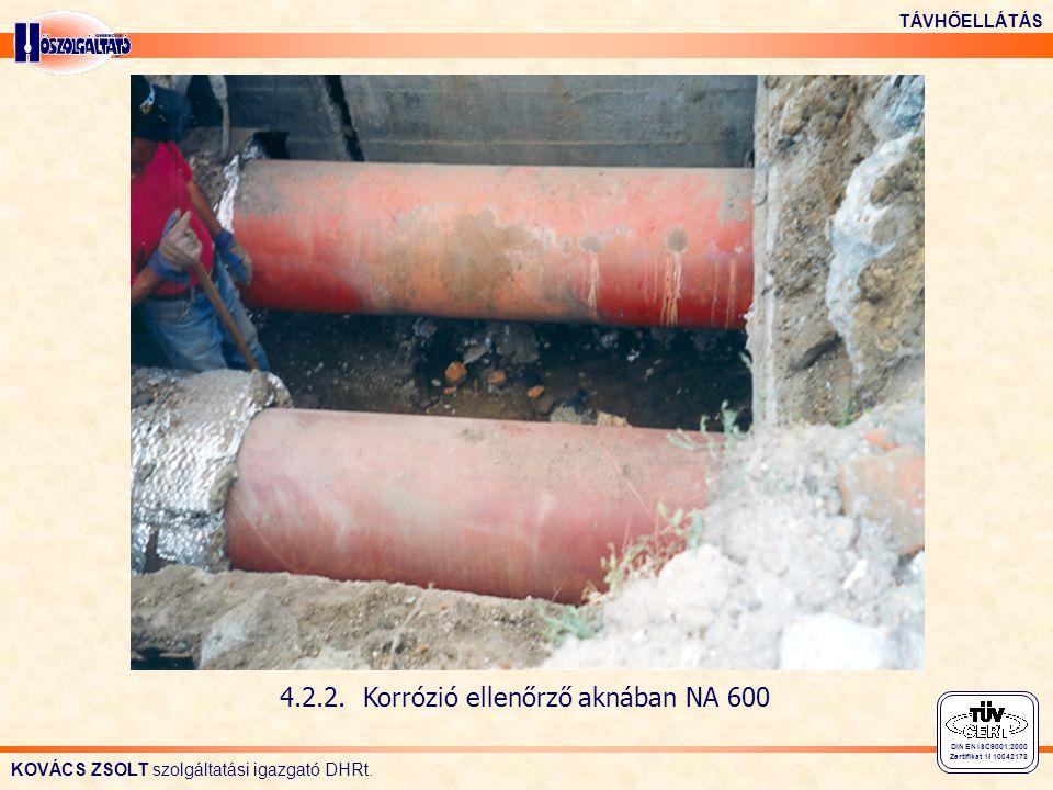 4.2.2. Korrózió ellenőrző aknában NA 600