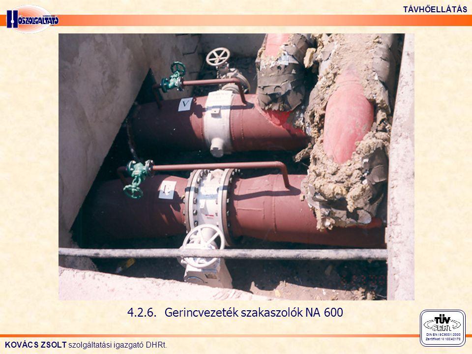 4.2.6. Gerincvezeték szakaszolók NA 600